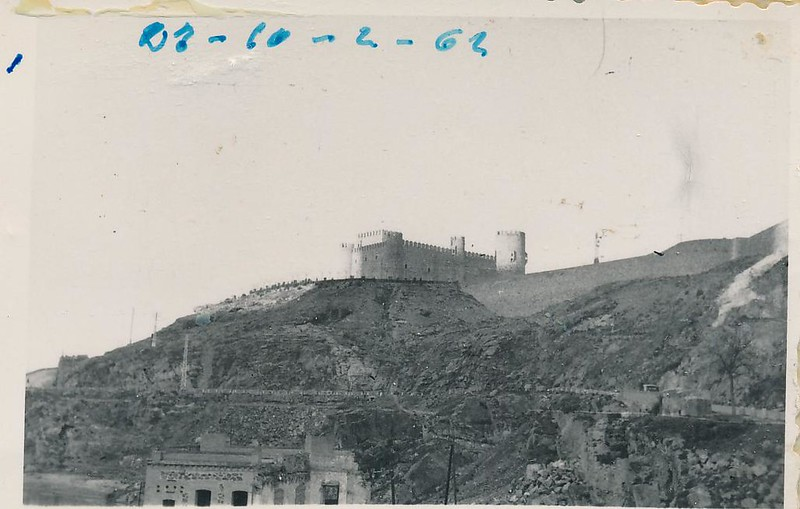 Castillo de San Servando en 1962. Fotografía de Julián C.T.