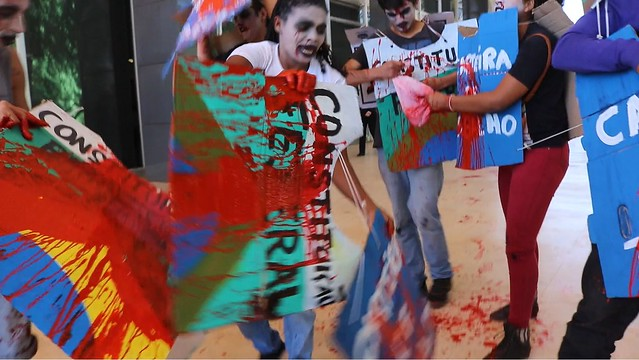 """Durante protesto, manifestantes gritavam """"Lula Livre"""" - Créditos: BdF"""