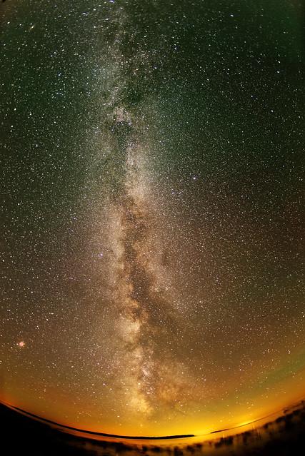 Milky Way Mars viewed, Sony ILCE-7SM2, FE 50mm F1.8