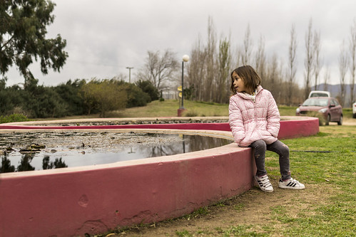 The girl and the water
