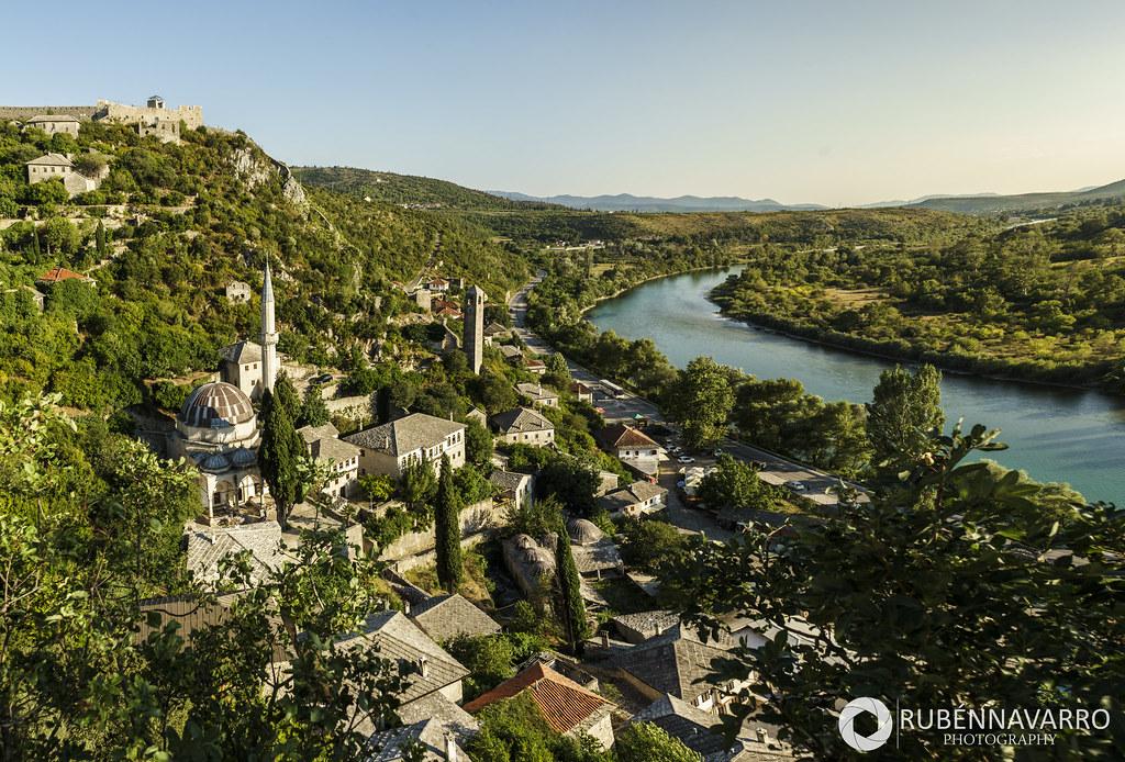 Vistas de Pocitelj desde el castillo