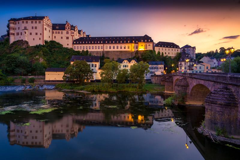 Weilburg an der Lahn Schloss und Steinerne Brücke