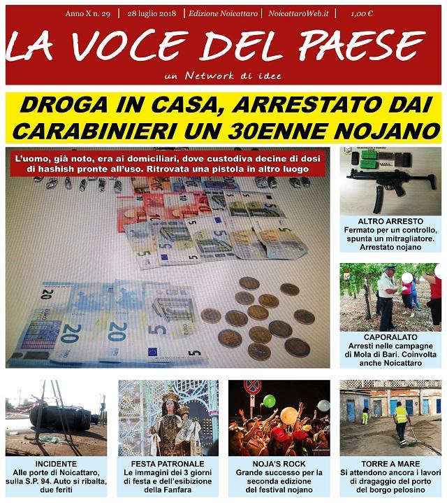 Noicattaro. Prima pagina n. 29-2018 intero