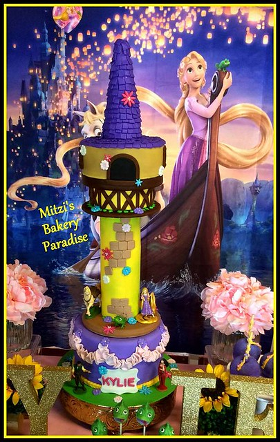Tangled Rapunzel Tower Cake by Mitzi Martin Malcolm of Mitzi's Bakery Paradise