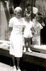 My Aunt, Florence Garnand, with Her Son, Russell Benhoff, Circa 1939