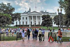 Tourists at the White House-Washington DC 8995