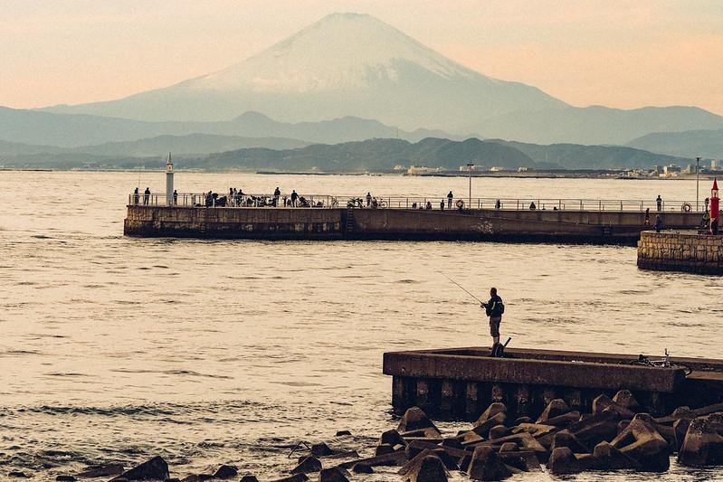 富士山|江之島方向