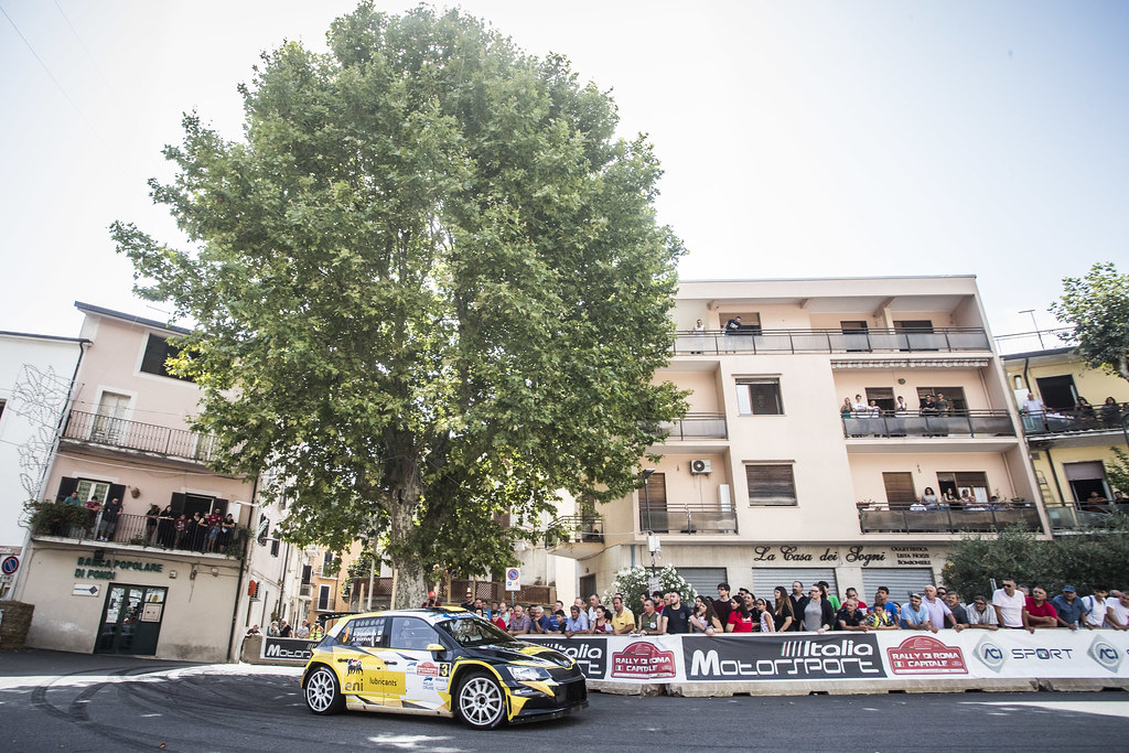 03 Simos Galatariotis (CYP), Antonios Ioannou (CYP), SKODA FABIA R5, during the 2018 European Rally Championship ERC Rally di Roma Capitale,  from july 20 to 22 , at Fiuggi, Italia - Photo Gregory Lenormand / DPPI