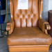 Home brown leather club chair E125