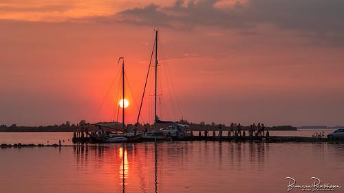 Sunset on a hot summer evening.