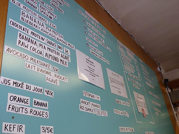 menu bol