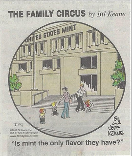 Family Circus US Mint cartoon