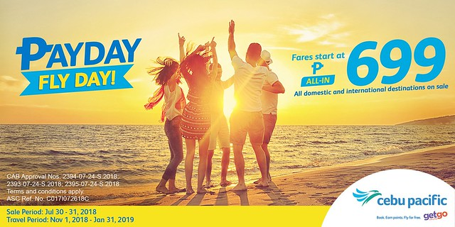 Pay Day Fly Day Cebu Pacific Seat Sale