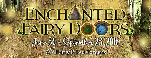 """Enchanted Fairy Doors"" at Leu Gardens"