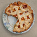 Homemade nectarine pie