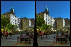 Weiße Gasse, Dresden 3-D / CrossView / Stereoscopy / HDRaw