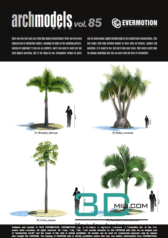 Evermotion Archmodels Vol 85: Tropical trees - 3D Mili - Download 3D