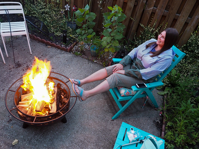 Amanda and the fire pit