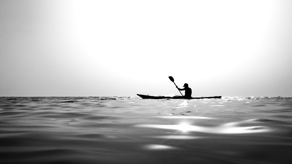 Canoeing - Paola, Italy - Black and white photography