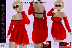 GIFT-MS-SM Barbara-dress red black