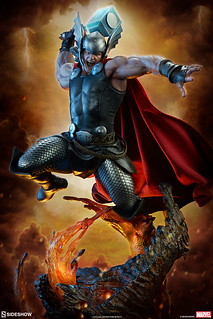 超魄力降臨火之國度的雷神!! Sideshow Collectibles Premium Format Figure 系列 Marvel Comics【索爾:Breaker of Brimstone】Thor:Breaker of Brimstone 1/4 比例全身雕像作品