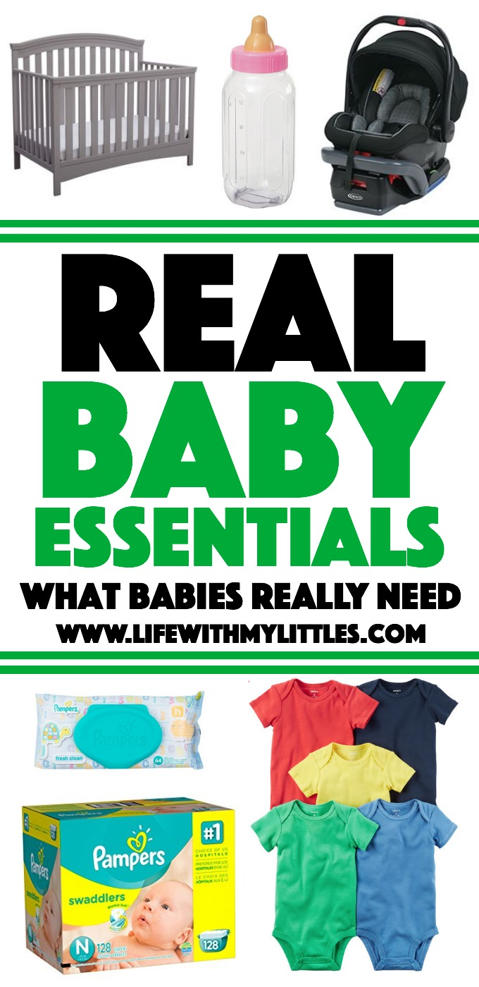 Real baby essentials for the no-nonsense parent. This list is the most basic, minimalist list out there!