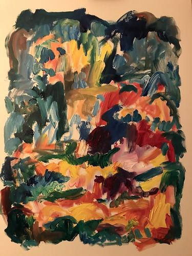 Susan Marx Fields 2018, 48x36 acrylic on canvas