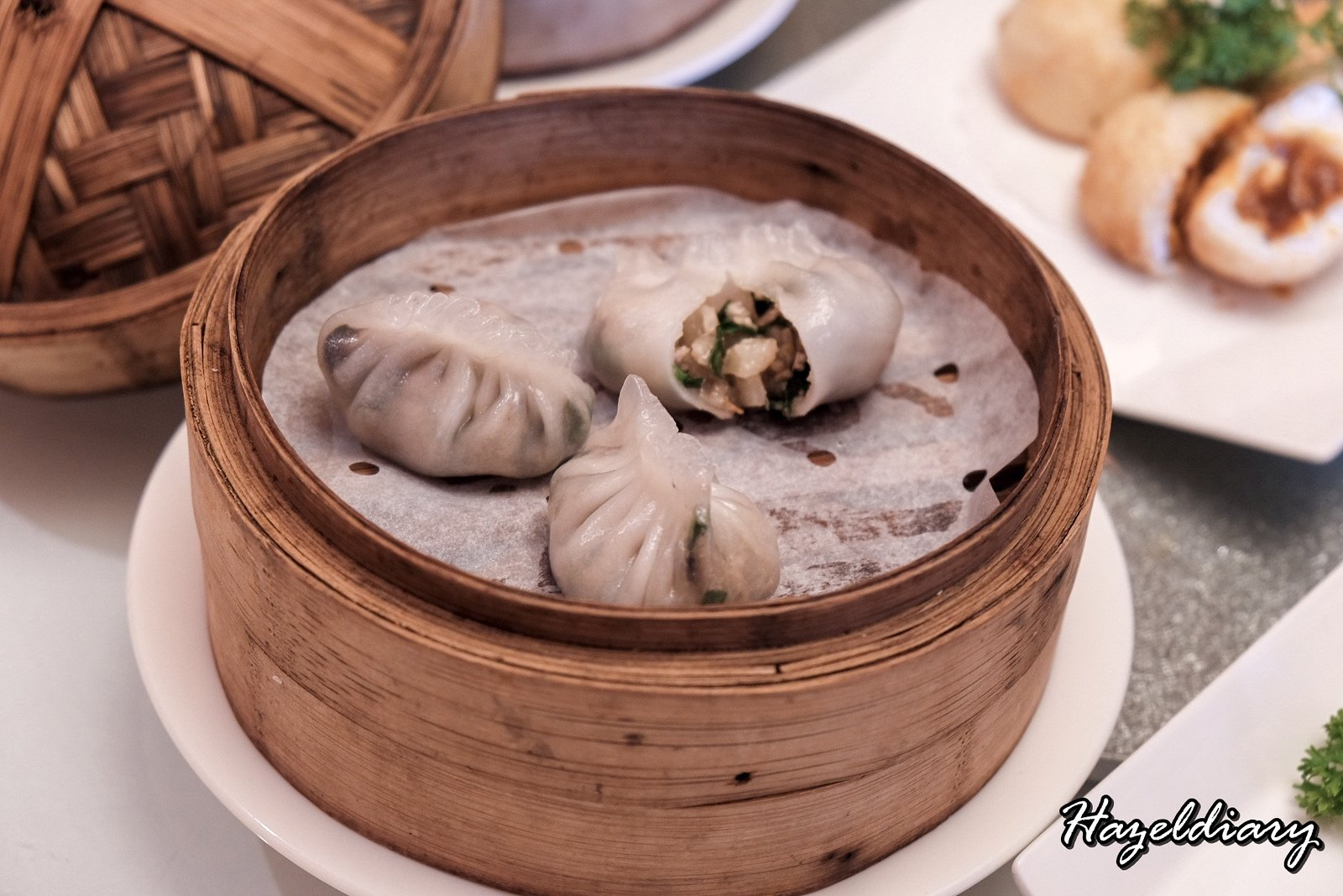 Yan Cantonese Cuisine-Steamed Pork and Mushroom Dumpling with Chives-1