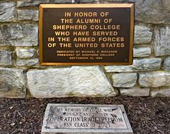 'In Honor of the U.S. Veteran Alumni of Shepherd College' -- Shepherd University Campus Shepherdstown (WV) 2018