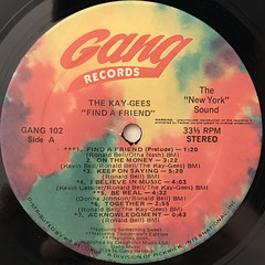 THE KAY-GEES:FIND A FRIEND(LABEL SIDE-A)