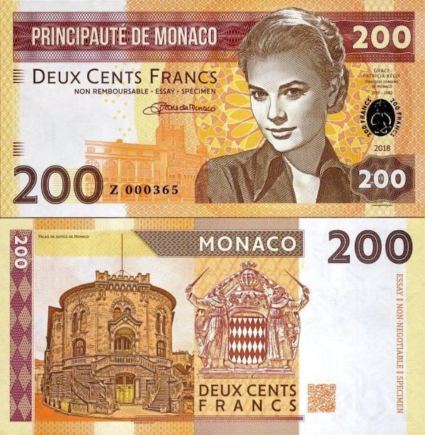MONACO 200 Francs 2018 Grace Kelly