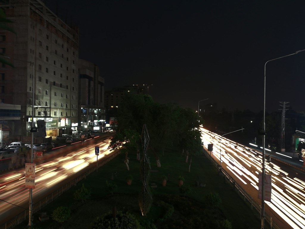 Light Painting Mode on Huawei P20 Lite