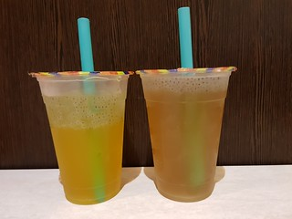 Passionfruit and Kumquat Basil Seed Iced Teas at Tea Master