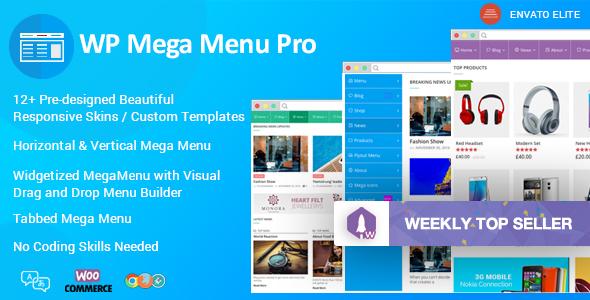 WP Mega Menu Pro v1.1.3 – Responsive Mega Menu Plugin for WordPress