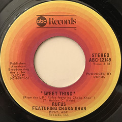 RUFUS FEATURING CHAKA KHAN:SWEET THING(LABEL SIDE-A)