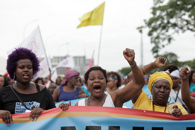 Thousands of black women take to the streets on the Afro-Latin American and Afro-Caribbean Women's Day and the Curly Hair Pride Day - Créditos: Janine Moraes | Marcha das Mulheres Negras