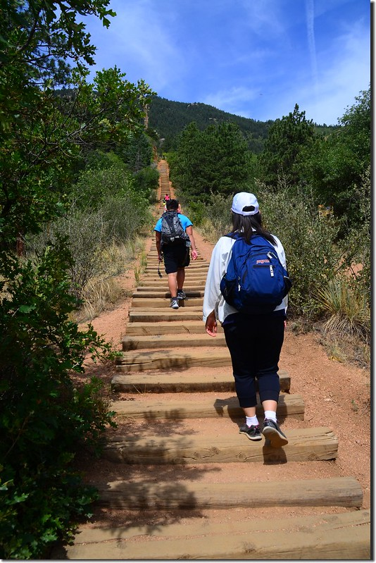 Ruth & Jacob heading up the Manitou Springs Incline