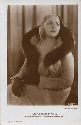 Marja Gorczynska in Tajemnica lekarza (1930)