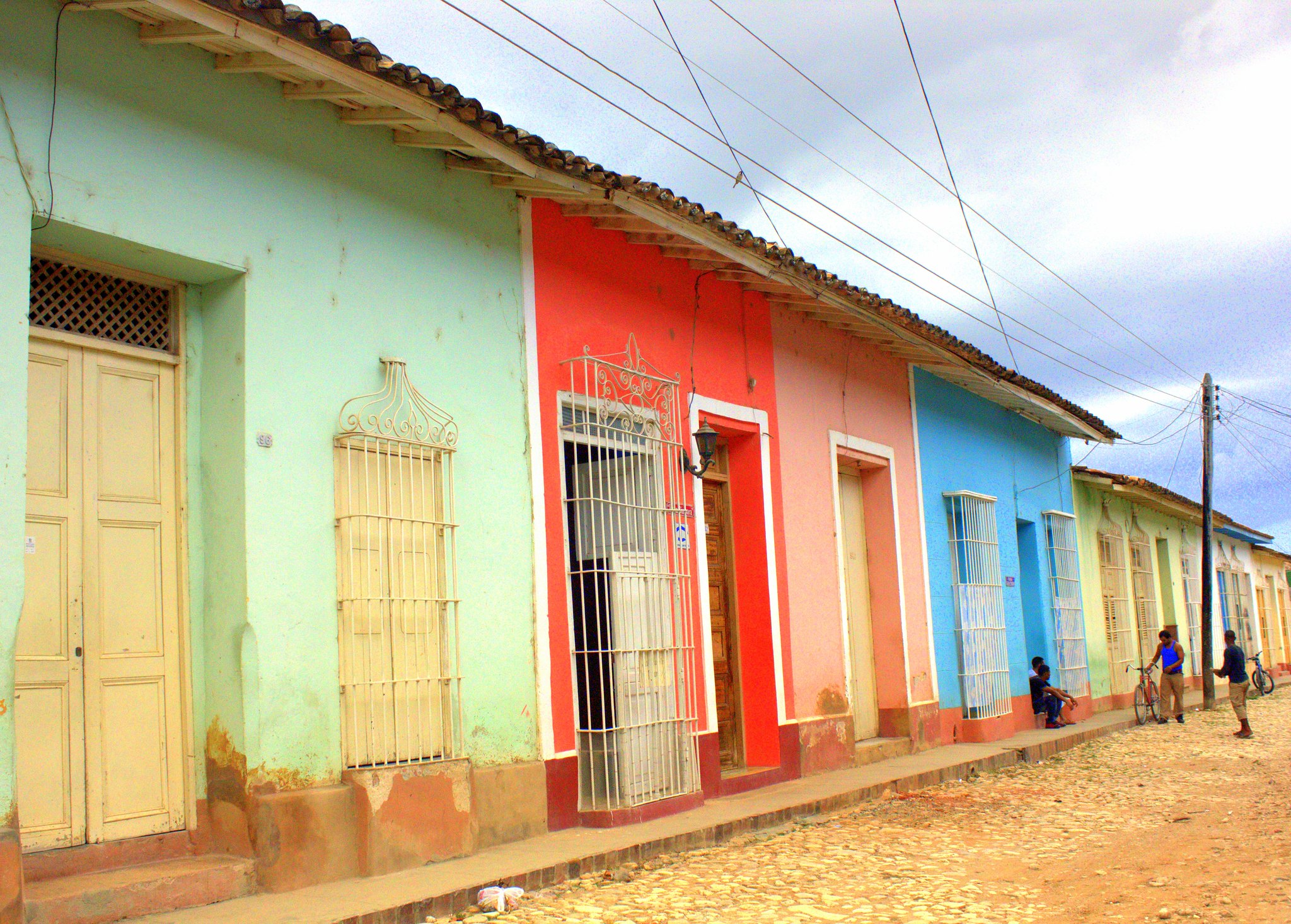 Trinidad is famous for pastel coloured houses