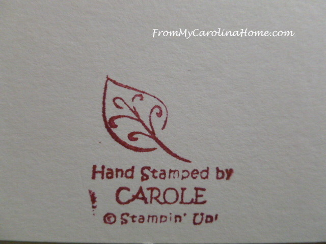 Stamping Cards for the Humane Society at From My Carolina Home