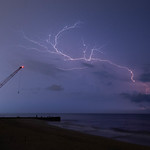 7. August 2018 - 22:12 - A lightning storm seen from the beach in Bay Head, NJ