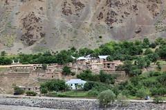 View of Afghanistan from Tajikistan