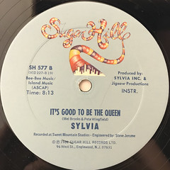SYLVIA:IT'S GOOD TO BE THE QUEEN(LABEL SIDE-B)