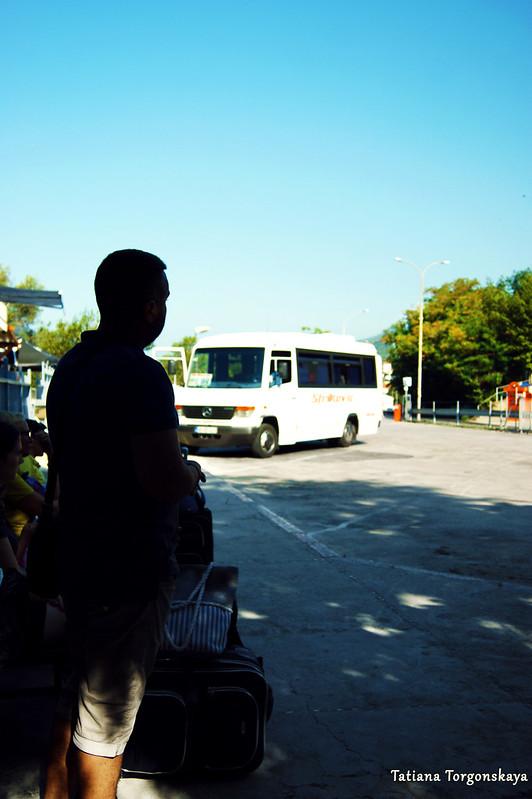 Посадка на автобус в Херцег Нови