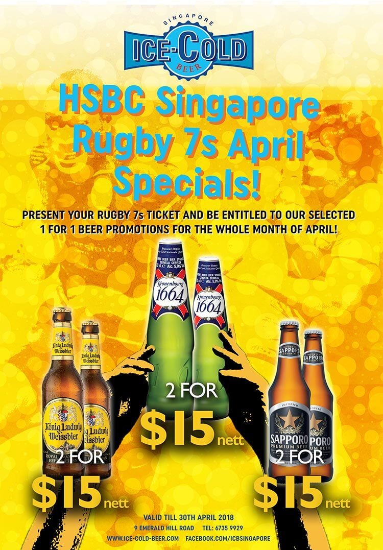 Ice cold beer promotion