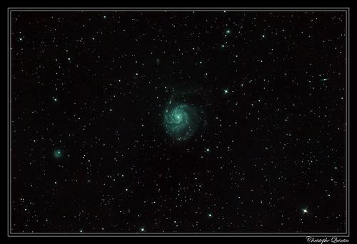 Galaxie du moulinet (M101-NGC5457) & NGC 5474
