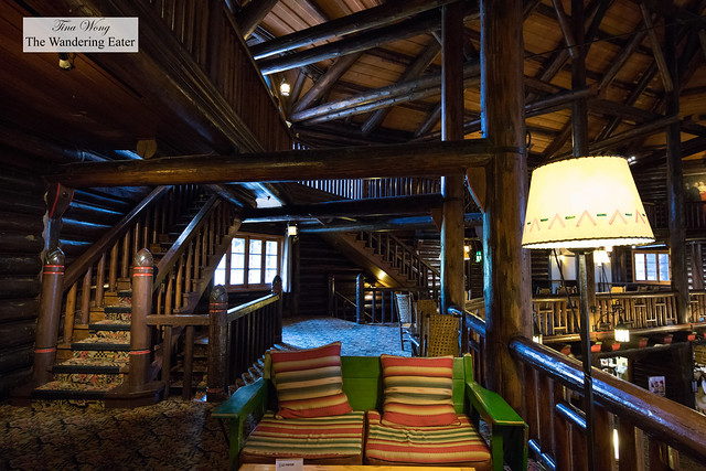 Adore the rustic elegant log cabin look to this hotel