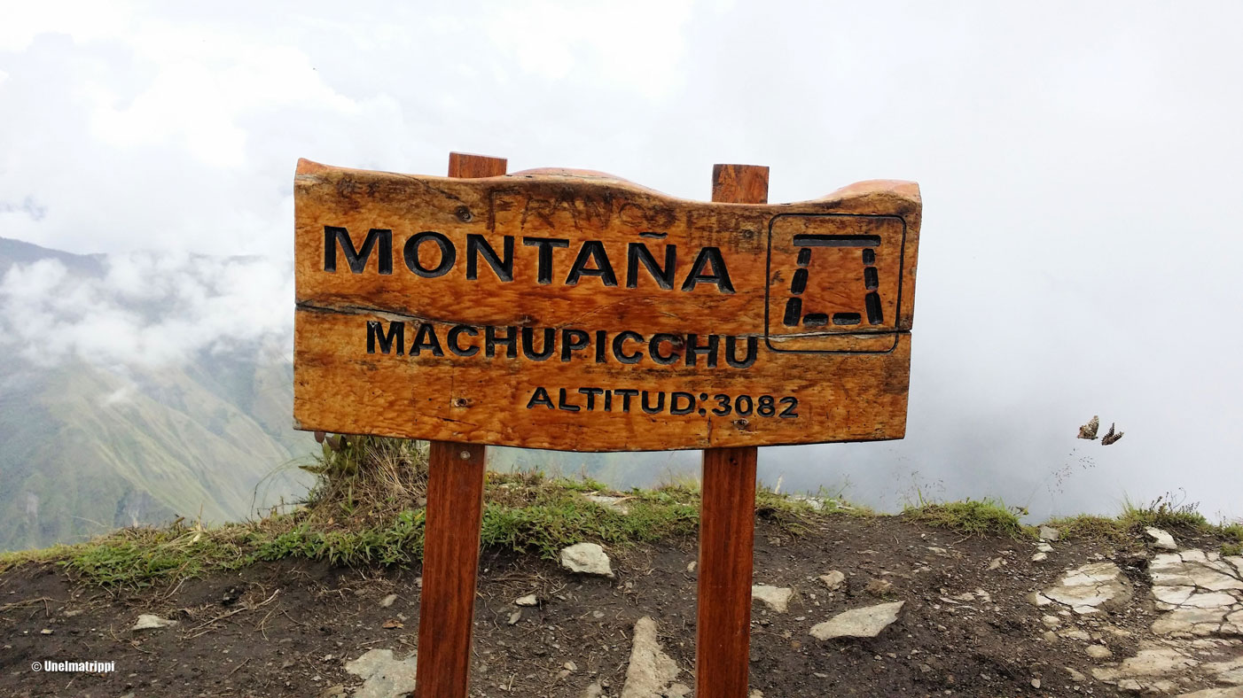 Machu Picchu Montañan kyltti