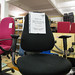 Black Fabric High Back Swivel Chair E70 lrg qty in stock   Ex Demo