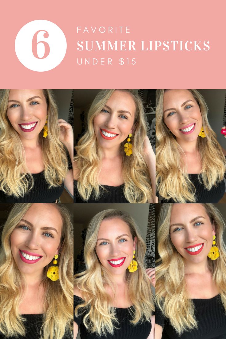 My Six Favorite Summer Lipsticks Under $15 Jackie Giardina Beauty Blogger Living After Midnite